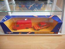 Corgi Team Datapost Set Ford Transit + Saab in Red in Box
