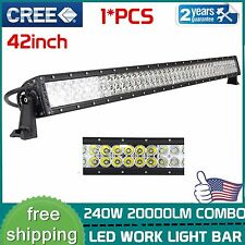 42Inch 240W Cree Led Light Bar Flood Spot Combo Boat Suv Truck Offroad 4WD IP67