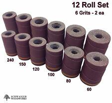 Drum Sander Sanding Wraps/Rolls, JET/Performax 16-32, Ryobi WBS1600, 12 Pc Set