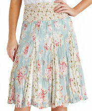 Calf Length Cotton Casual Floral Skirts for Women
