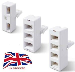 BT Telephone Adapter Socket 2/3/4 Way Phone UK Land Line Connector Splitter LOT