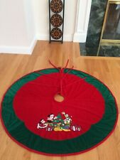 RARE Disney Parks Walt Disney Holiday Velvet Christmas Tree Skirt Mickey Mouse