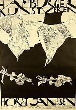 Horst Janssen 1929 Hamburg / Lithographie, handsigniert / Hamburger Kunstverein