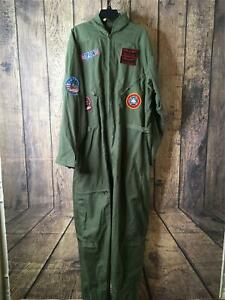 Top Gun by Leg Avenue Paramount Mens XL Army Green Costume Flight Suit NWT