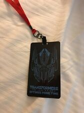 Transformers The Last Knight Optimus Prime Time AMC Lanyard Badge First Show Exc