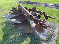 "Farmall IH tractor 4 bottom 11"" plow IH 2pt Fast Quick Hitch guage wheel cutters"