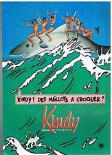 Publicité Advertising 1985 Les Maillots de Bain Kindy