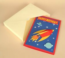 A4 Card Making Templates-3D Space Rocket Card.FREE CRAFT PATTERN EVERY £10 SPENT