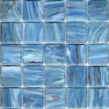 25pcs GM50 Sky Blue Bisazza Le Gemme Italian Glass Mosaic Tiles 2cm x 2cm