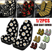 Flower Pattern Car Front Seat Cover Protector Cushion Truck Van SUV Universal #