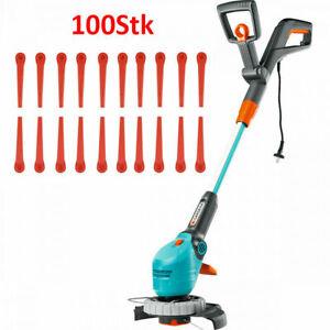100x Kunststoffmesser Ersatzmesser für Gardena 9823, 9825 Rasentrimmer AKKU ART