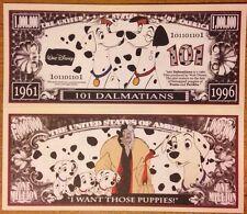 Disney 101 Dalmatians Million Dollar Bill