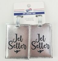 American Tourister 2 Pack Luggage Name Id Tags Silver | Jet Setter | New