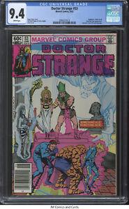 Doctor Strange #53 1982 CGC 9.4 - Fantastic Four app & #19 cover homage