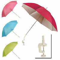 Clip On Screw Clamp Garden Parasol Sunshade Balcony Sun UV Protection Umbrella