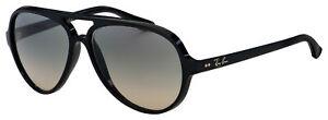 Ray Ban Cats 5000 Sunglasses RB 4125 601/32 59 Black | Light Grey Gradient Lens