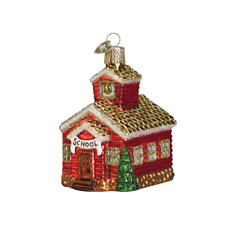 Old World Christmas School House (20007)X Glass Ornament w/Owc Box