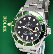 "** Rolex Submariner 16610 Steel Green ""Kermit"" Watch Box/Receipt M 16610LV **"