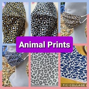 ANIMAL PRINTS - Hand Made Reusable Cotton Face Mask/Face Covering