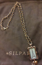 "Silpada ""Meet Me in Paris"" Exclusive Incentive Necklace Sterling Silver w/CZ New"