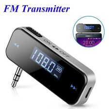Mini LCD Display FM Transmitter 3.5mm Music Audio Car Mobile Phones Wireless