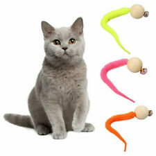 3pcs Wiggly Ping Cat Toy - Simulation Worm Toy With Bell For Pet cat