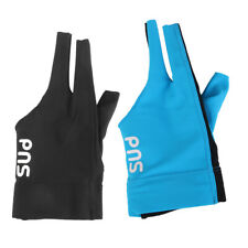 New listing 2 Pieces Left Hand Three Finger Spandex Pool Snooker Billiard Cue Glove