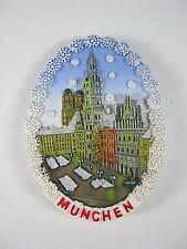 Munich marienplatz Baviera, Souvenir poliresina imán copos de nieve, Germany, nuevo