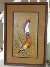 ORIGINAL ROBERT ROETMAN ACRYILIC ON BOARD BIRD PAINTING AMSTERDAM HOLLAND ARTIST