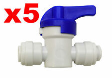"""Finerfilters 1/4"""" PF Shut Off Valve Tap For Drinking Water, Reverse Osmosis (5)"""