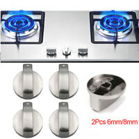 2Pcs Universal Metal Rotary Switch Control Knobs for Cooker Gas Stove Oven 6/8mm