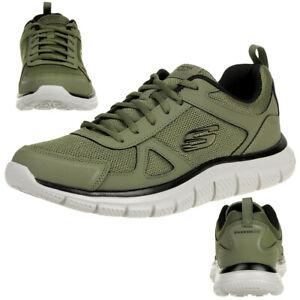 Skechers Track Scloric Herren Sneaker Sportschuhe Trainer grün 52631