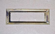 Metal group porta etichetta in ottone antichizzato MG10976 mm.80x29