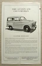 AUSTIN A30 COUNTRYMAN Car Sales / Specification Leaflet c1954 #1141