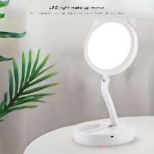 Portable Folding 7x Magnifying LED Light Up Double Side Makeup Mirror Tabletop