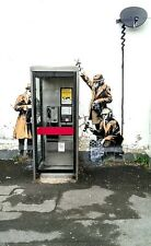 Incorniciato Banksy Street Art Print – mi5 SPIE Hewlett ROAD Cheltenham (Graffiti)