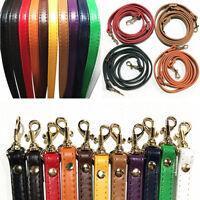 1.2cm*120cm Handbag Cross Body Shoulder Bags Strap PU Leather Handle Replacement