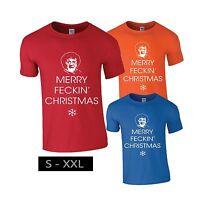 MRS B BROWN'S MERRY FECKIN' CHRISTMAS T SHIRT Gift Idea Present Xmas New Tee Top