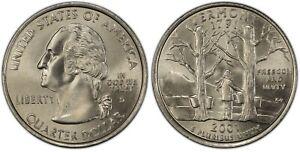 2001-D Vermont Statehood Quarter 25C Uncirculated Coin Denver mint 028