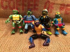 Teenage Mutant Ninja Turtles Vintage 5 Lot TMNT Mirage 1988-1992 Toon Head Spin