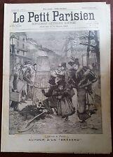 """Le petit parisien 26/03/1893; Autour d'un """"Brasero""""/ vue de Tamatave"""