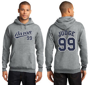 Aaron Judge 99 New York Yankees Men's or Youth Hoodie Sweatshirt Jersey Gray