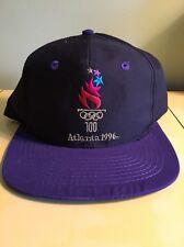 Vintage Purple ATLANTA 1996 OLYMPICS Embroidered Hat Snapback Never Worn