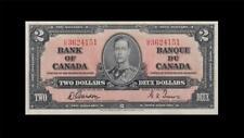 "1937 BANK OF CANADA KGVI $2 **Gordon & Towers** ""U/B"" (( EF+ ))"