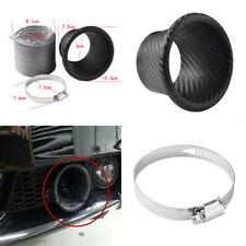 Carbon Fiber Front Bumper Turbo Air Intake Pipes Turbine Funnel Parts Set Kit