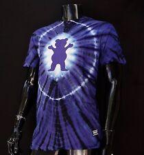 New Grizzly Griptape Skateboard Co. Og Bear Tie Dye Mens Sport T shirt