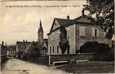 CPA  St-Marcel-de-Bel-Accueil-Quartier de l'Ecole et l'Eglise (241712)