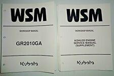 Kubota GR2010 Lawn Garden Tractor Service Shop Workshop Repair Manual OEM kohler