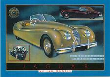 Jaguar XK 140 Large Format MODERN postcard by Jenna