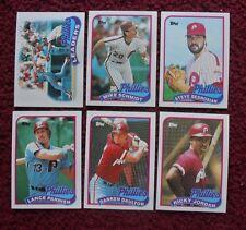 1989 Topps Philadelphia Phillies Baseball Team Set (28 Cards) ~ Mike Schmidt ++